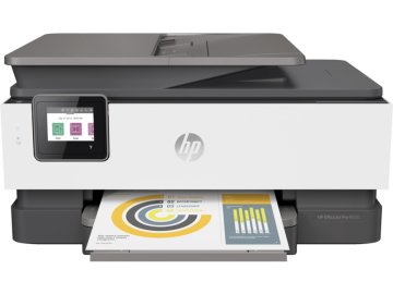 HP OfficeJet Pro 8020 AIO Fax Duplex Network Wifi Inkjet Printer
