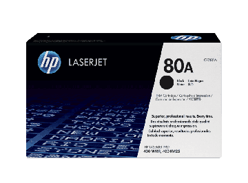 HP 80A Black Original LaserJet Toner Cartridge (2,560 pages) (CF280A)