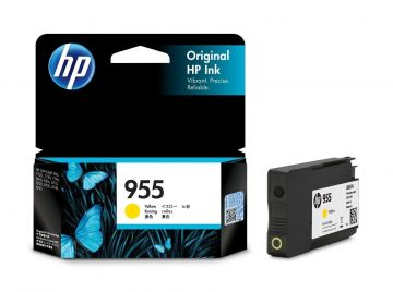HP 955 Yellow Original Ink Cartridge (700 pages) (L0S57AA) (HP955)