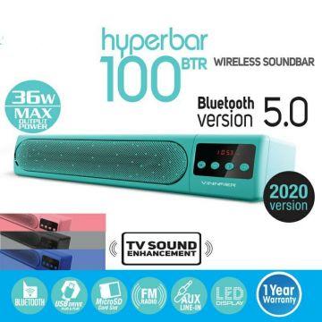 VINNFIER HyperBar 100 BTR Wireless Bluetooth Sound bar with LED Display. (PINK)