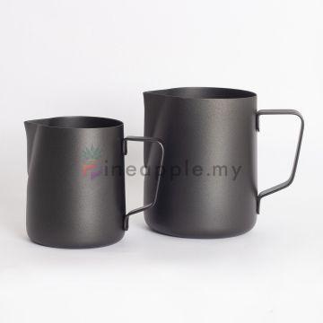 MOJAE Milk Jug Teflon Teko Pitcher Espresso Cafe Latte Art Black Heat Resistant