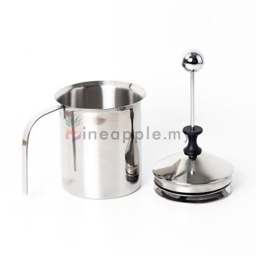 Stainless Steel Manual Milk Frother Double Mesh (MJ13N14) Coffee Cappuccino Foamer Creamer 800ML