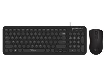 Alcatroz Jelly Bean U2000 Wired Keyboard and Mouse Combo (Black)