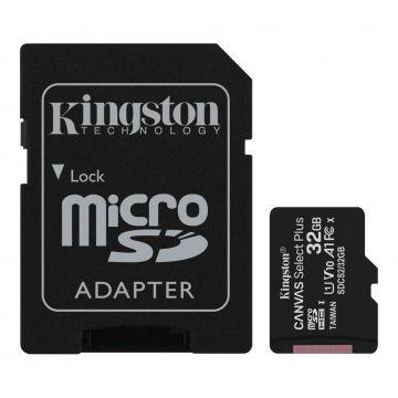 KINGSTON Canvas Select Plus 32GB R100MB/s CL10 UHS-I microSD Memory Card (SDCS2/32GB)