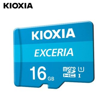 KIOXIA Exceria 16GB CL10 R100 microSD Memory Card w/adaptor (LMEX1L016GG2)