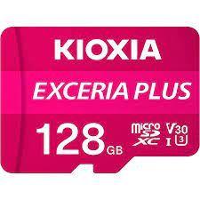 KIOXIA Exceria Plus 128GB CL10 R100/W65 microSD Memory Card (LMPL1M128GG2)