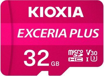 KIOXIA Exceria Plus 32GB CL10 R98/W65 microSD Memory Card (LMPL1M032GG2)