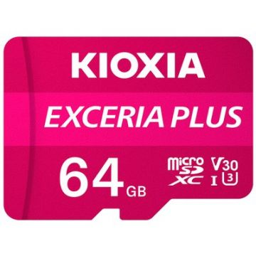 KIOXIA Exceria Plus 64GB CL10 R100/W65 microSD Memory Card (LMPL1M064GG2)