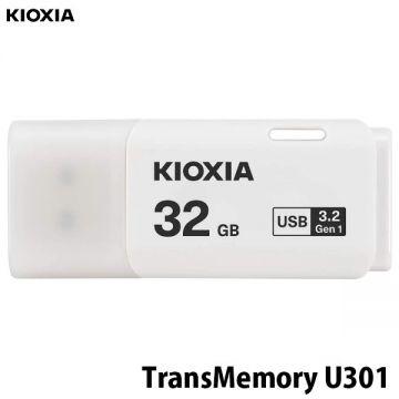 KIOXIA Transmemory U301 32GB USB3.2 Gen1 Flash Drive (LU301W032GG4) (White)