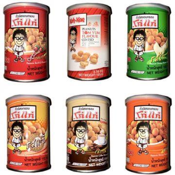 Thai Koh-kae Peanuts 105-110g tin - Flavour Coffee / BBQ / Chicken/ Tom yum