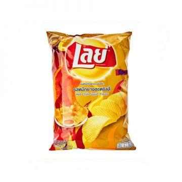 Thailand Lay's Potato Chip - Flavour Hot Chili Squid 50g