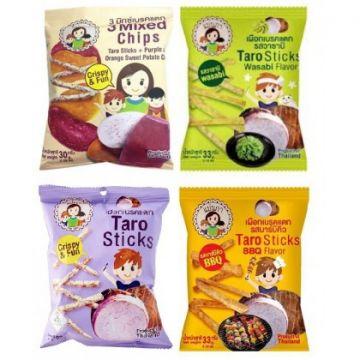 Thai Mae Napa Chip - Flavour Taro Sticks / Purple Sweet Potato / 4 Mixed Chips