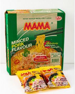 Thai MAMA Instant Noodle - Flavour Minced Pork 1 Box [30packs]