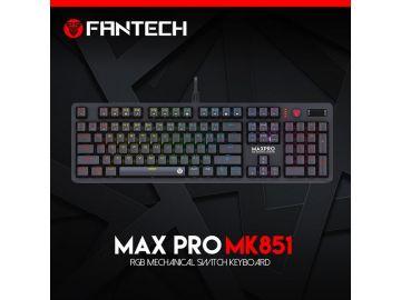 FANTECH Max Pro MK851 RGB Optic Mechanical Switch Keyboard (Blue Switch / Brown Switch)