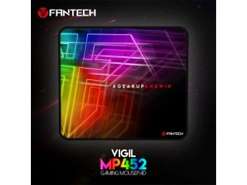 Fantech MP452 Gaming Mousepad VIGIL SPEED-TYPE for Professional Gamers Stitching Edges Smooth Surface
