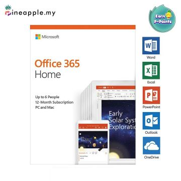 Office 365 Home - Up to 6 People, 12-Month Subscription, PC & Mac