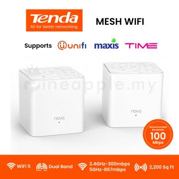 TENDA Nova MW3 AC1200 Whole Home Mesh Wifi System (2-pack)