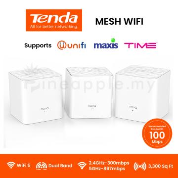 TENDA Nova MW3 AC1200 Whole Home Mesh Wifi System (3-pack)