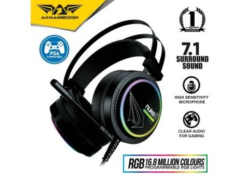 Armaggeddon Nuke 11 -RGB Surround 7.1 Gaming Headphones with High Sensitivity Microphone For Laptop and PC (Compatible for PS4)