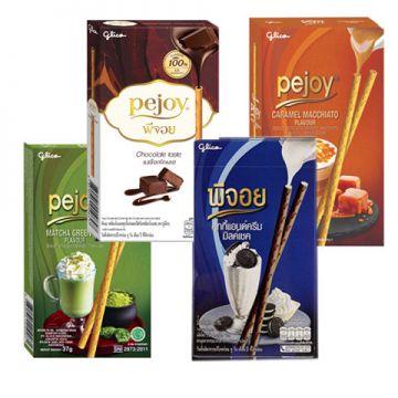 Thai Pocky Pejoy Biscuit Stick 47-54g - Flavour Chocolate / Matcha/ Caramel /Cookie & Cream