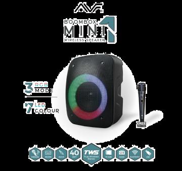 AVF Boombox MINI 1 TWS Portable Rechargeable Bluetooth Speaker