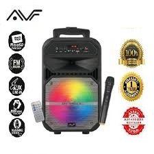 AVF BoomBox Chatterbox-V 7 LED Mini Portable Trolley Speaker - Free Wireless Microphone