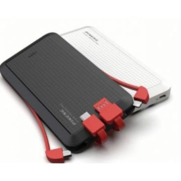 PINENG PN-957 10000mAh Li-Polymer Powerbank (Black) (Genuine) - Built-in Cable x 4