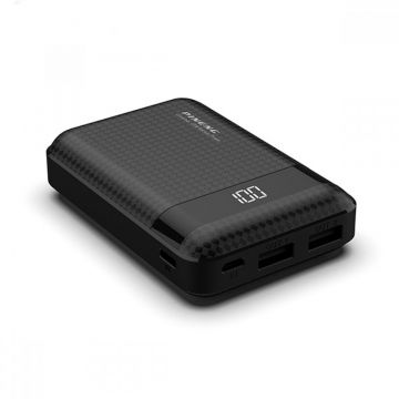 PINENG PN-965 10000mAh Li-Polymer Compact Powerbank (Black) (Genuine)
