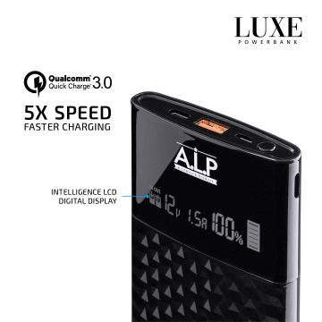 ALP LUXE 10,000mAh QUALCOMM 3.0 + PD Quick Charge Powerbank
