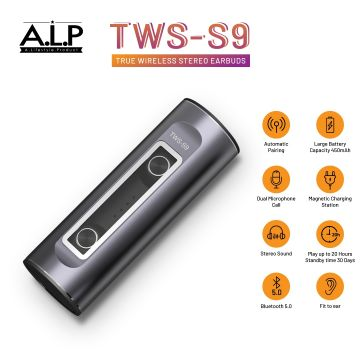 ALP (TWS-S9) True Wireless Bluetooth Earbuds