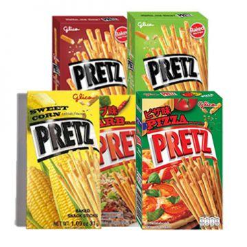 Thai Glico Pocky Pretz Biscuit stick 23-25g - Flavour Original / Larb / Corn/ Tom yum / Pizza/ Sour Cream