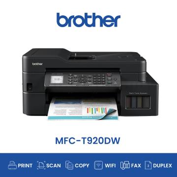 BROTHER MFC-T920DW AIO Fax Duplex Wifi Ink Tank Printer (New)