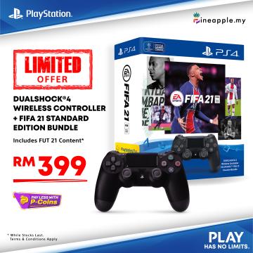 Sony DUALSHOCK®4 Wireless Controller + EA SPORTS™ FIFA 21 Voucher Bundle (ASIA-00401)
