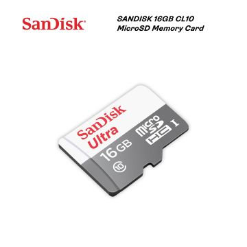 SANDISK Ultra 16GB 80MB/S CL10 UHS-I MicroSDHC Card (SDSQUNS-016G-GN3MN)
