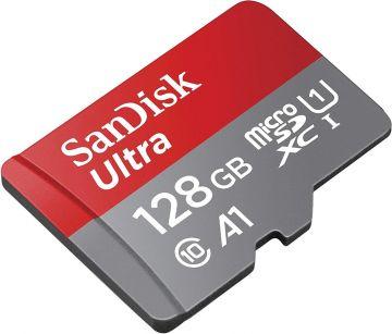 SANDISK Ultra 128GB CL10 MicroSD Card (R100 MB/s) (SDSQUAR-128GB-GN6MA)