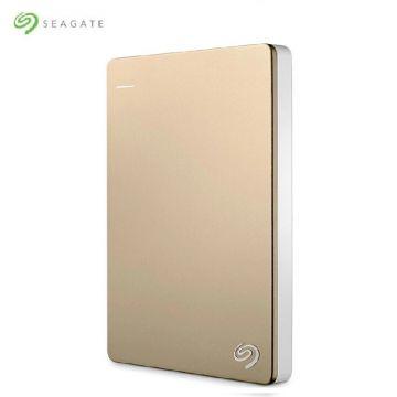 SEAGATE Backup Plus Slim 1TB USB3.0 Portable External Hard Drive (STHN1000404) (Gold)