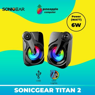 SonicGear Titan 2 Portable 2.0 Speaker with Volume Control and 7 Colours Lighting (Huge Bass)