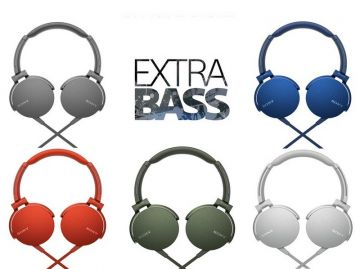 Sony MDR-XB550AP Wired Extra Bass with Remote Control Microphone On-Ear Headphones