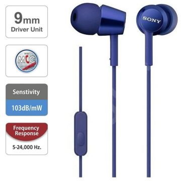 Sony MDR-EX155AP Casual Wired In-Ear Earphone with Mic