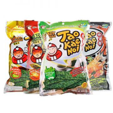 Thai Tao Kae Noi Crispy Seaweed 32g - Flavour Classic / Tom Yum / Hot & Spicy / Wasabi