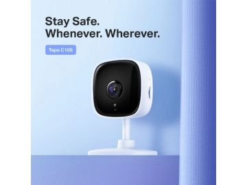 TP-Link Tapo C100 Home Security Wi-Fi Camera [1080P | Advanced Night Vision | Motion Detection and Notifications]