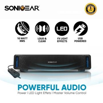 SonicGear SonicBar U200 Powerful Audio With LED Light Effects