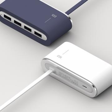 VAREO One Soul USB Hub (White/Blue)