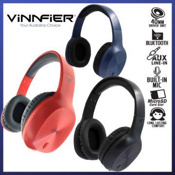 VINNFIER Elite 1 High Performance Bluetooth Headset (Blue/Grey/Red)