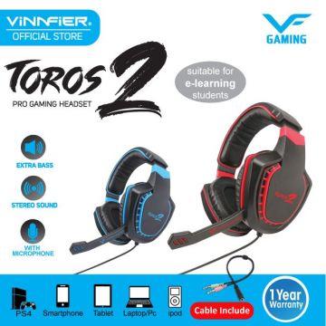 VINNFIER Toros 2 Pro Gaming Headset (Blue/Red)