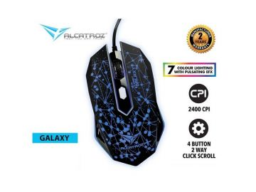 Alcatroz X-Craft Classic GALAXY Gaming Mouse (2400 CPI) 4 Button