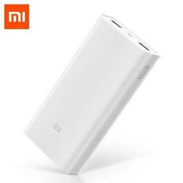 XIAOMI MI Powerbank 2C 20000mAh QC3.0 Quick Charge Li-Polymer (White) Genuine)