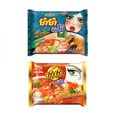 Thai Yum Yum Instant Noodle Pack 63g- Flavour Seafood/ Tom yum kung creamy