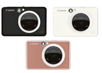 Canon iNSPiC [S] ZV-123A 2-in-1 Instant Camera Mini Photo Printer with Smartphone Connection (White/Black/Gold)