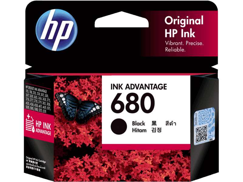 HP 680 Black Original Ink Advantage Cartridge (480 pages) (F6V27AA) (HP680)